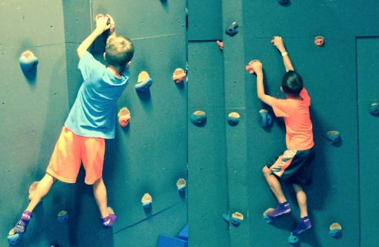 Matty & Benny Rock Climbing